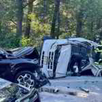 Early Morning Crash Closes Road in Howell