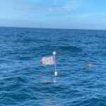 F*** Joe Biden Flag Flying on Lobster Pot Off Coast of New Jersey